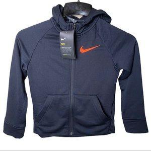 Nike Dri Fit Toddler Boys Black Full Zip Sweater
